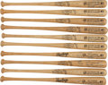 "Autographs:Bats, Circa 1990 ""Salute to the 50's NY Yankees"" Multi-Signed Bats Lot of10...."