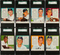 Baseball Cards:Lots, 1954 Red Man Tobacco High Grade SGC Collection (16) - AmericanLeaguers....