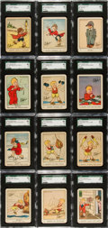 """Non-Sport Cards:Sets, 1933 Wheaties """"Skippy"""" SGC-Graded Complete Set (12). ..."""