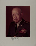 Autographs:Military Figures, General Omar Bradley Inscribed Photo Signed....
