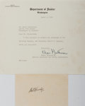 Autographs:Statesmen, Robert Kennedy Signed Card.... (Total: 2 Items)