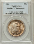 Commemorative Silver: , 1946 50C Booker T. Washington MS65 PCGS. PCGS Population(1422/484). NGC Census: (1057/499). Mintage: 1,000,546.Numismedia...