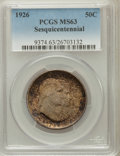 Commemorative Silver: , 1926 50C Sesquicentennial MS63 PCGS. PCGS Population (1489/2334).NGC Census: (1305/2068). Mintage: 141,120. Numismedia Wsl...