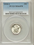 Mercury Dimes: , 1938-S 10C MS64 Full Bands PCGS. PCGS Population (289/914). NGCCensus: (50/374). Mintage: 8,090,000. Numismedia Wsl. Price...