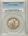 Standing Liberty Quarters: , 1926-D 25C MS64 PCGS. PCGS Population (1454/212). NGC Census:(957/260). Mintage: 1,716,000. Numismedia Wsl. Price for prob...