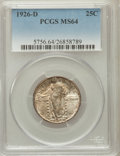 Standing Liberty Quarters: , 1926-D 25C MS64 PCGS. PCGS Population (1458/212). NGC Census:(958/260). Mintage: 1,716,000. Numismedia Wsl. Price for prob...