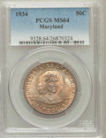 Commemorative Silver: , 1934 50C Maryland MS64 PCGS. PCGS Population (1809/1983). NGCCensus: (1120/1910). Mintage: 25,015. Numismedia Wsl. Price f...