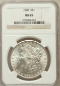 Morgan Dollars: , 1900 $1 MS65 NGC. NGC Census: (4311/601). PCGS Population(3514/597). Mintage: 8,830,912. Numismedia Wsl. Price forproblem...