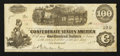 Confederate Notes:1862 Issues, T40 $100 1862 PF-9 UNL.. ...