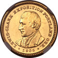 Commemorative Gold, 1905 G$1 Lewis and Clark MS64 Prooflike NGC....