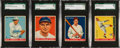 Baseball Cards:Lots, 1933 Goudey Baseball HoFers SGC-Graded Collection (4)....