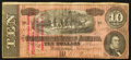 Confederate Notes:1864 Issues, T68 $10 1864 PF-30 Cr. UNL.. ...