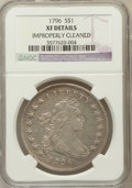 Early Dollars, 1796 $1 Small Date, Large Letters -- Improperly Cleaned -- NGCDetails. XF. B-4, BB-61. NGC Census: (5/20). PCGS Popula...