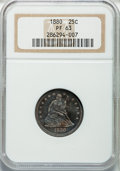 Proof Seated Quarters, 1880 25C PR63 NGC....