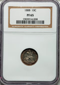 Proof Seated Dimes, 1888 10C PR65 NGC....