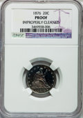 Proof Twenty Cent Pieces, 1876 20C -- Improperly Cleaned -- NGC Details. Proof....