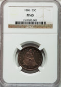 Proof Seated Quarters, 1886 25C PR65 NGC....