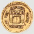 "Luxury Accessories:Accessories, Chanel ""31 Rue Cambon"" Gold Pin. ..."