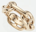 Luxury Accessories:Accessories, Hermes Gold Chaine d'Ancre Scarf Ring. ...