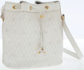 Luxury Accessories:Bags, Christian Dior White Monogram Leather Bucket Bag with ShoulderStrap. ...