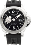 Timepieces:Wristwatch, Panerai OP 6554 Ocean Chronometer GMT Automatic Wristwatch, circa 2003. ...