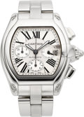 Timepieces:Wristwatch, Cartier Ref. 2618 Large Stainless Steel Automatic RoadsterChronograph. ...