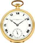 Timepieces:Pocket (post 1900), Patek Philippe Gent's Gold Pocket Watch, circa 1915. ...