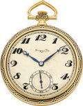 Timepieces:Pocket (post 1900), International Watch Co. Gold & Enamel Pocket Watch For Grogan& Co., circa 1915. ...