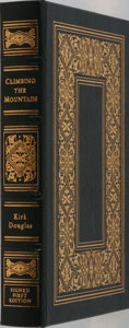 Books:Biography & Memoir, Kirk Douglas. LIMITED/SIGNED. Climbing the Mountain. My Search for Meaning. Easton Press, 1997. Limited to 1250 ...