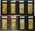 Baseball Cards:Sets, 1911 T201 Mecca Double Folder Professionally Graded Near Set(38/50). ...