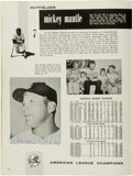 Baseball Collectibles:Publications, 1961 New York Yankees Team Signed Team Yearbook....