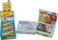 Non-Sport Cards:Unopened Packs/Display Boxes, 1974 Topps Wacky Package Posters Wax Box & Wacky Patches BoxPair (2). ...