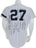 Autographs:Jerseys, 2000's New York Yankees Stars Multi-Signed Jersey....