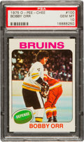 Hockey Cards:Singles (1970-Now), 1975 O-Pee-Chee Bobby Orr #100 PSA Gem MT 10 - Pop Two! ...