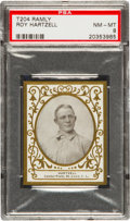 Baseball Cards:Singles (Pre-1930), 1909 T204 Ramly Roy Hartzell PSA NM-MT 8 - Pop Two, None Higher!...
