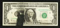 Error Notes:Ink Smears, Fr. 1907-C $1 1969D Federal Reserve Note. Very Fine.. ...