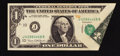 Error Notes:Foldovers, Fr. 1907-J $1 1969D Federal Reserve Note. About Uncirculated.. ...