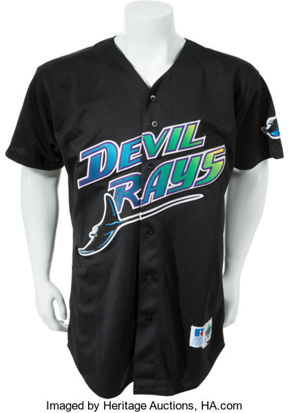 new product c221c 0119e 1999 Wade Boggs Game Worn Signed Tampa Bay Devil Rays Jersey ...