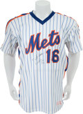 Baseball Collectibles:Uniforms, 1986 Dwight Gooden World Series Game Issued New York MetsJersey....