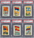 "Non-Sport Cards:Sets, 1910 T60 Red Cross ""Flags of All Nations"" Collection (18) - AnExtremely Rare Brand. ..."