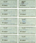 Baseball Collectibles:Others, 1980s Bobby Thomson Signed Checks - Approximately 1000. ...