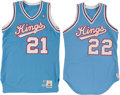 Basketball Collectibles:Uniforms, 1986 Frankie Edwards and 1990 Byron Irvin Game Worn SacramentoKings Jerseys Lot of 2....