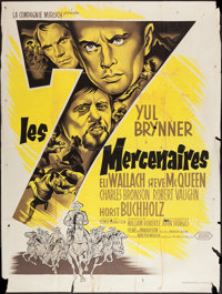 """The Magnificent Seven (United Artists, 1960). French Grande (46.5"""" X 62""""). Western"""