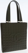 Luxury Accessories:Bags, Chanel Olive Lambskin Leather Everyday Tote Bag with CC Logo. ...