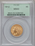 Indian Half Eagles: , 1912 $5 MS63 PCGS. PCGS Population (1286/467). NGC Census:(1066/405). Mintage: 790,000. Numismedia Wsl. Price for problem ...