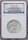 Seated Half Dollars, 1856-O 50C Shipwreck Effect NGC. Ex: SS Republic. Mintage:2,658,000....