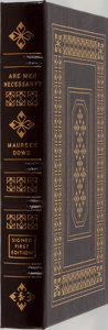 Books:Biography & Memoir, Maureen Dowd. LIMITED/SIGNED. Are Men Necessary? When SexesCollide. Easton Press, 2005. Limited to 1200 hand nu...
