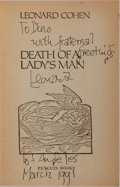 Books:Literature 1900-up, Leonard Cohen. INSCRIBED. Death of a Lady's Man. New York:Penguin Books, 1979. Inscribed by Cohen on the ti...
