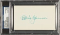 Autographs:Index Cards, 1950's Tris Speaker Signed Index Card....