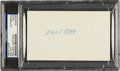 Autographs:Index Cards, Circa 1950 Mel Ott Signed Index Card....